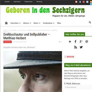 """Interview mit Matthias Herbert auf dem Blog """"Geboren in den Sechzigern"""""""
