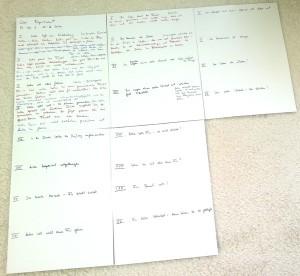 Planung der Kapitel für meinen nächsten Roman